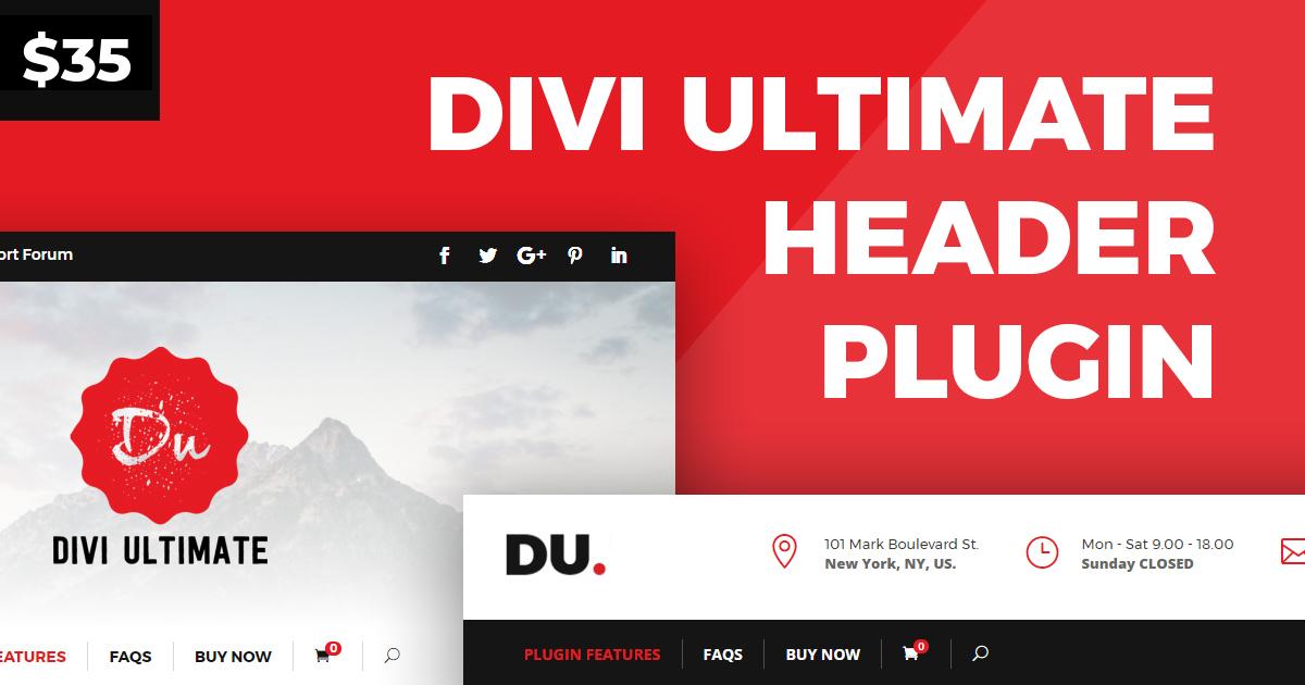Divi Ultimate Header Plugin | Design Divi Custom Header Globally